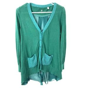 Knitted and Knotted Kelly Green Ravenna Sweater